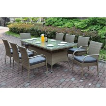 225 / Liz.p20- 7PC OUTDOOR PATIO TABLE SET [P50272(1)+P50162(8)]
