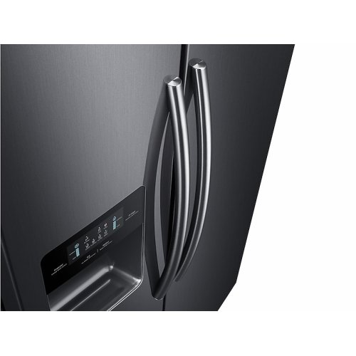 25 cu. ft. Side-by-Side Refrigerator with In-Door Ice Maker in Black Stainless Steel