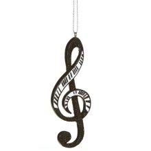 Piano Treble Clef Note Ornament.