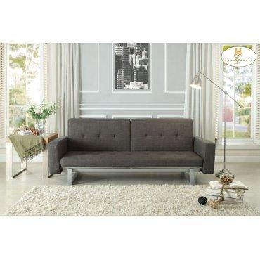 Elegant Lounger Sofa: 80.75 x 35.5 x 31.5H Bed: 70 x 62.25 x 13.5H