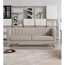 Divani Casa Dominic Modern Grey Fabric Sofa