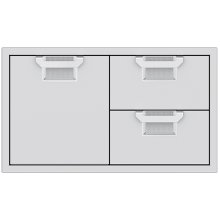 Double Drawer and Storage Door Combination, 36""