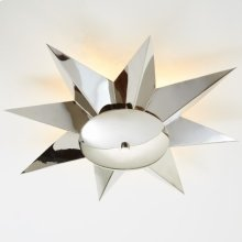 Klismos Ceiling Fixture-Nickel