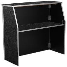 4' Black Marble Laminate Foldable Bar