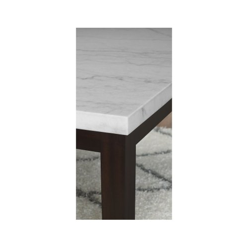 """Francis Round White Marble Top 40''x40""""x 55MM"""