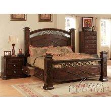 Walnut Finish Storage Bedroom Set