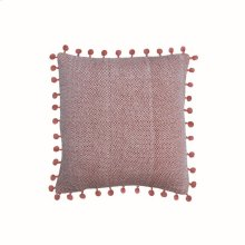 18X18 Hand Woven Lane Pillow Rust