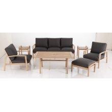 Maddie Karri Gum FSC KD Deep Seating Lounge Chair w/Sunbrella Cast Ash cush