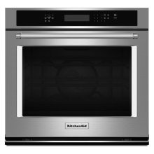 "[CLEARANCE] 30"" Single Wall Oven with Even-Heat True Convection - Stainless Steel. Clearance stock is sold on a first-come, first-served basis. Please call (717)299-5641 for product condition and availability."