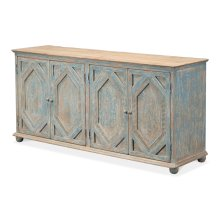 Four Diamonds Sideboard,Ant.Blue Wash