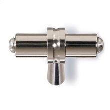"1 1/4"" Overall Length T shape Knob - Polished Nickel and Polished Nickel"