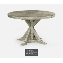 "48"" Rustic Grey Circular Dining Table"