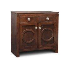 Orlando Sideboard w/2 Wood Doors & 2/Dwrs & 1/Wood Adjust.
