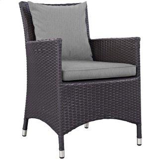 Convene Dining Outdoor Patio Armchair in Espresso Gray