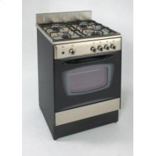 "Model DG241BS - 24"" Deluxe Gas Range SSteel"