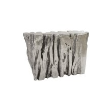 Freeform Console Table, Silver Leaf