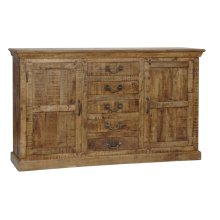 Bengal Manor Mango Wood 5 Drawer 2 Door Sideboard