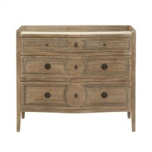 Calais 3-Drawer Nightstand