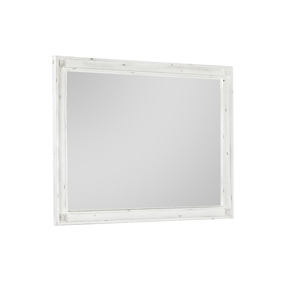 Emerald Home B312-24 Bordeaux Mirror, Antique White