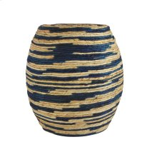 Abaca Drum Stool Blue