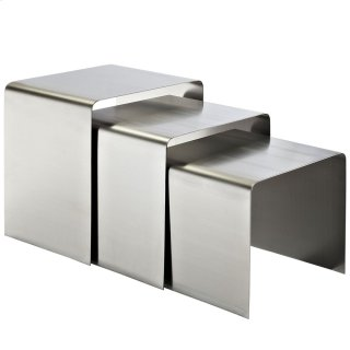 Rush Nesting Table in Silver