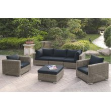 414 / Liz.p33- 6PC OUTDOOR PATIO SOFA SET [P50156(2)+P50157(1)+P50159(2)+P50158(1)]