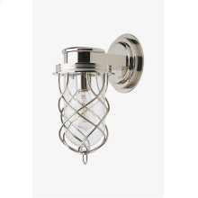 Compass Wall Mounted Single Arm Sconce with Glass Shade STYLE: CMLT01