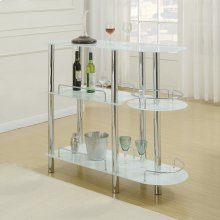 F2120 / Cat.19.p63- BAR STAND/GLASS WHT