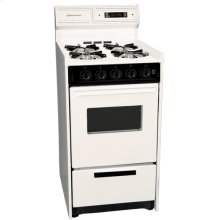 """Deluxe Bisque Gas Range In Slim 20"""" Width With Electronic Ignition, Digital Clock/timer, Oven Window and Light; Replaces Stm1307kw"""