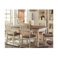 Rectangular Dining Room Table with 4 Chairs and Upholstered Bench