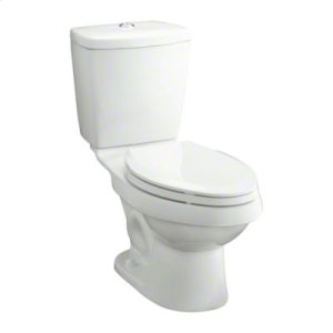 """Karsten® 12"""" Rough-in Elongated Toilet with Dual Force® Technology - White Product Image"""