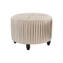 Pleated Ottoman in Natural Linen