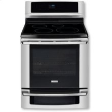 """30"""" Electric Freestanding Range with Induction Cooktop and Wave-Touch® Controls"""