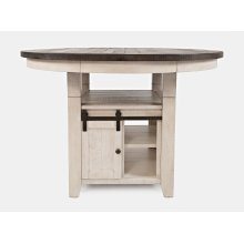 Madison County High/low Ext Table Base - Vintage White