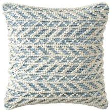 Herringbone Berber Pillow, BLUE, 18X18