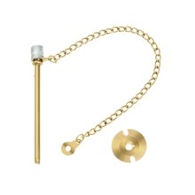 "Window Door Pin 3"" - PVD Polished Brass"