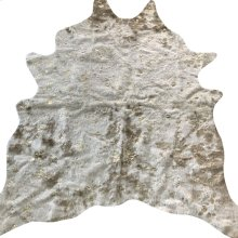 BELL HIDE RUG  Faux Hair on Hide- Camel with Metallic Gold