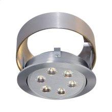 Tiro Collar 6 Light Tiro Conversion ring for J-Box in Brushed Aluminum