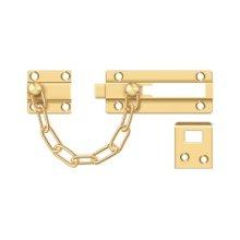 Door Guard, Chain / Doorbolt - PVD Polished Brass