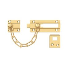 Door Guard, Chain / Doorbolt - PVD Polished Brass