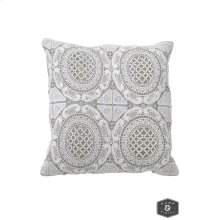 WESTON PILLOW- IVORY  Lace on Cotton  Down Feather Insert