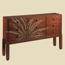 """Tropical"" Walnut Palm Console"