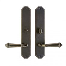 """Arched Privacy Set - 2 1/2"""" x 13"""" Silicon Bronze Brushed"""