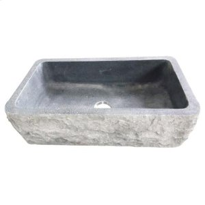 "Birgitta Single Bowl Granite Farmer Sink - Polished Blue Gray / 33"" Product Image"