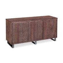 Ironwood Credenza, Ironwood Credenza, Gunmetal Base, 60""