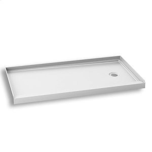 "Rectangular acrylic shower base 60"" x 32"" - Right drain Product Image"