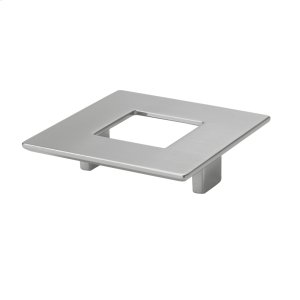 Square Pull With Hole 64mm Polished Satin Nickel Product Image