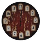 Distressed Redwood Clock Product Image