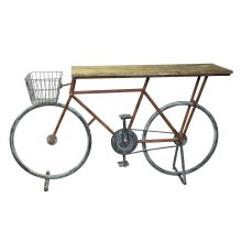 Ec, Bicycle Console Table, Red/blue