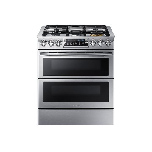5.8 cu. ft. Slide-In Gas Range with Flex Duo & Dual Door in Stainless Steel